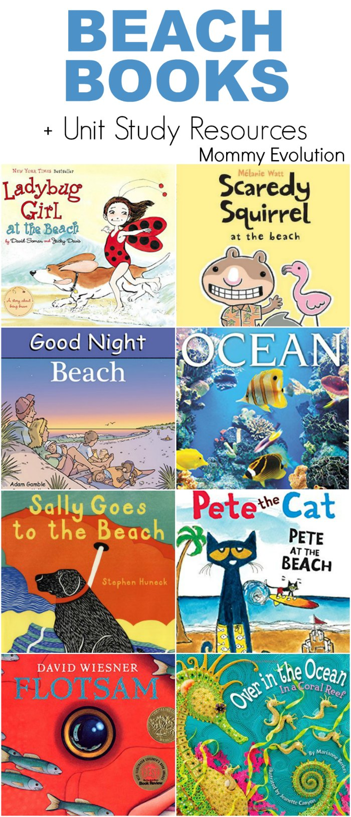 Books about Beaches for Kids + Unit Study Resources | Mommy Evolution