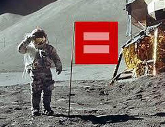 man on the moon red campaign equal marriage rights