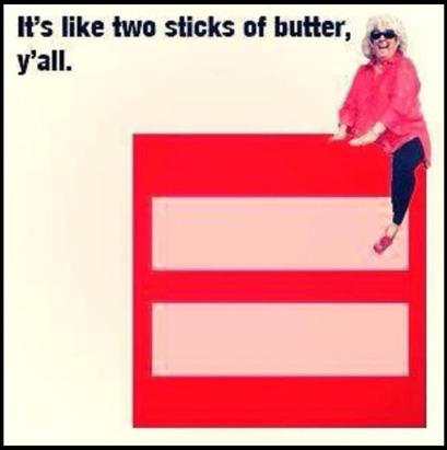 Paula Dean Facebook Equal Gay Rights Profile Pic