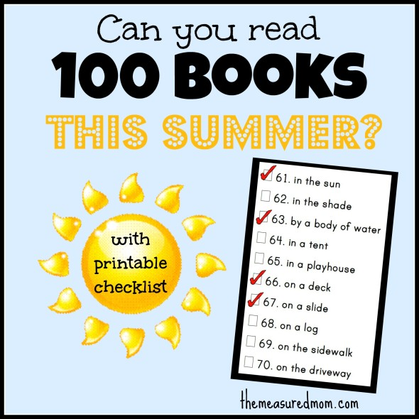 100 books this summer reading challenge for children and kids