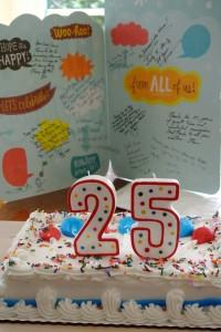 Birthday card balloons 25th birthday