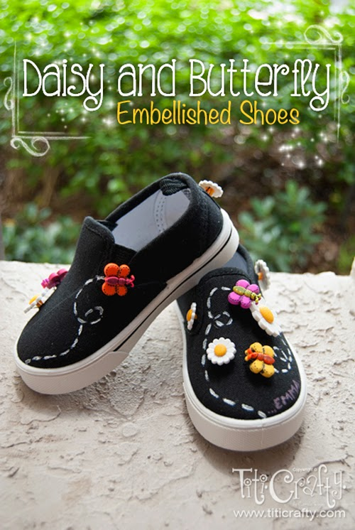 Who Can Resist These Adorable DIY Daisy and Butterfly Embellished Shoes
