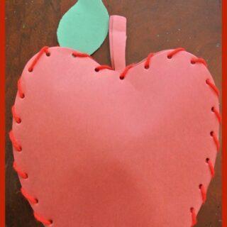 Sew an Apple Fall Craft