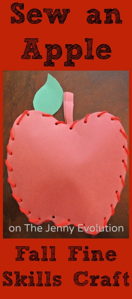 Fall Apple Craft with Fine Motor Skills Practice