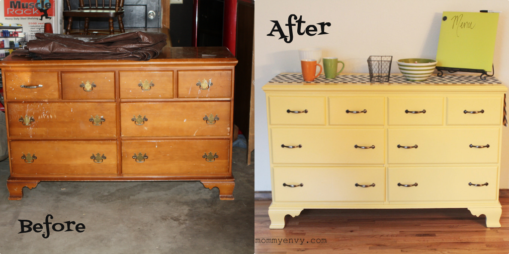 Before And After Yellow Dresser