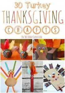 30 Turkey Thanksgiving Crafts | The Jenny Evolution