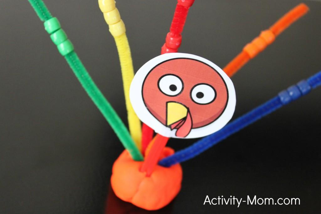 Beaded Turkey Craft | Activity Mom #thanksgiving #craft