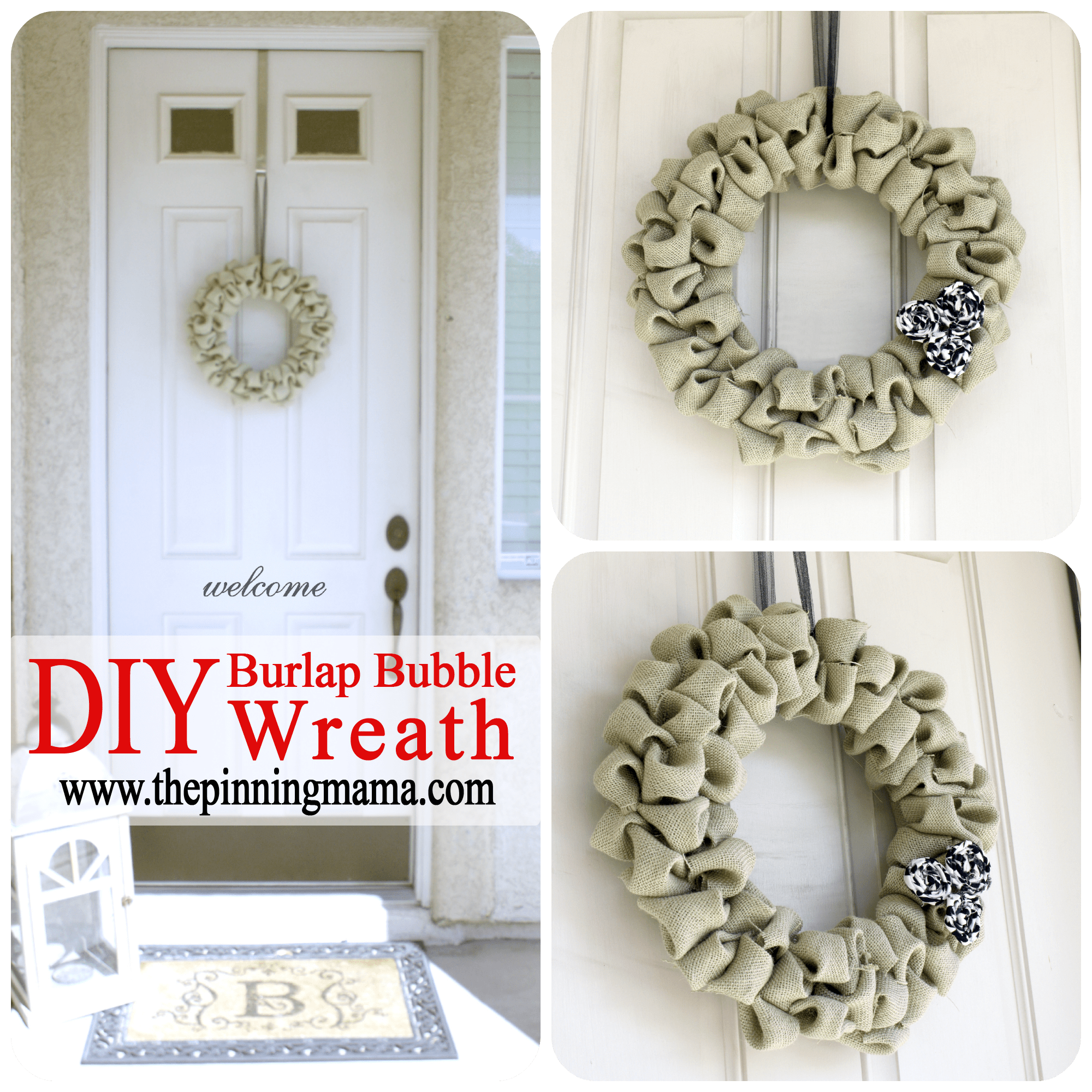 Burlap Bubble Wreath | The Pinning Mama #christmas #wreath
