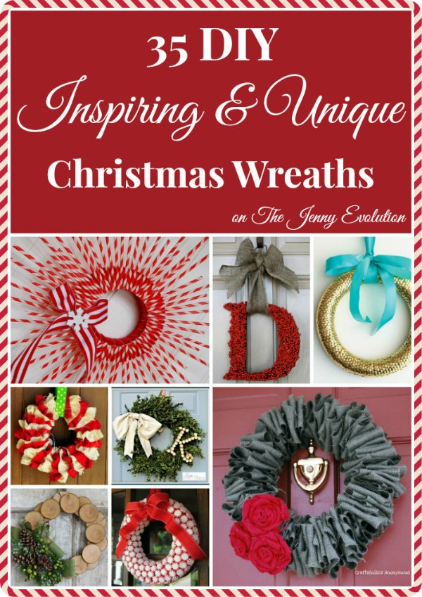 35 DIY Inspiring & Unique Christmas Wreath Tutorials #christmas #wreath