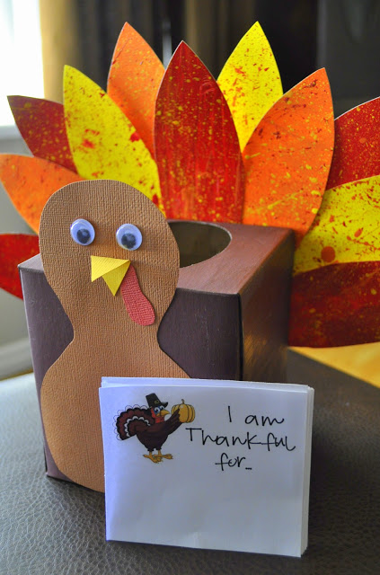 Thankful Turkey Tissue Box | Whatever Dee Dee Wants. #thanksgiving #craft