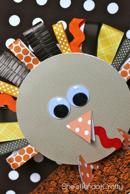 Ribbon Gobbler | She's Kinda Craft #thanksgiving #craft