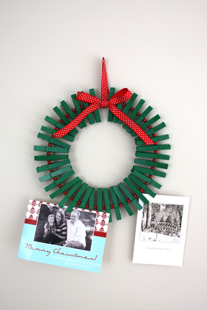 Clothespin Holiday Wreath | Gwenny Penny #christmas #wreath