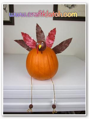 Turkey Pumpkin for Thanksgiving | Craft Klatch #thanksgiving #craft
