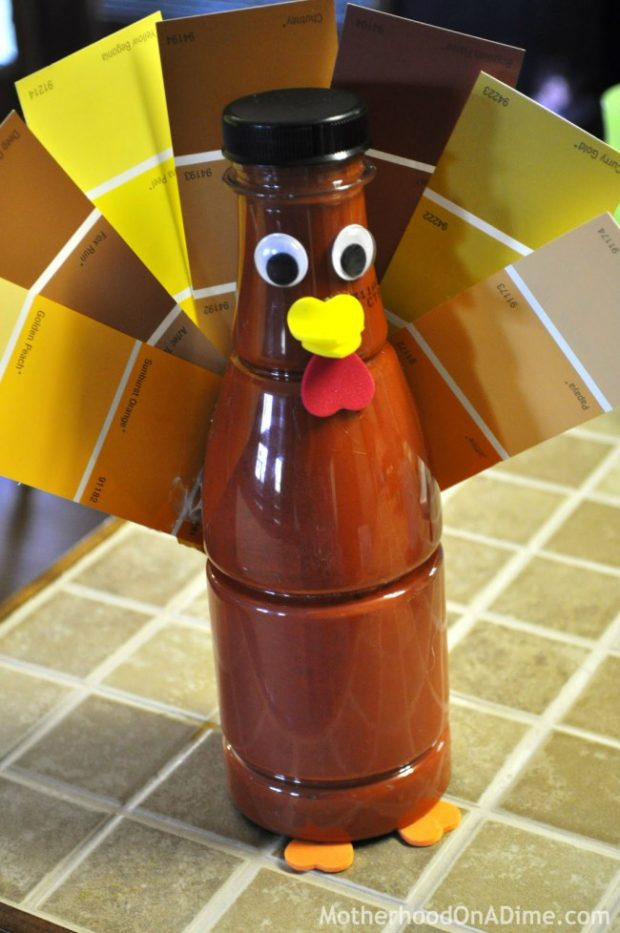 Paint Sample Turkey Craft | Motherhood on a Dime #thanksgiving #craft