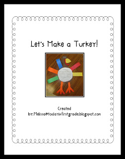 Make a Turkey Pattern | Today in First Grade #thanksgiving #craft