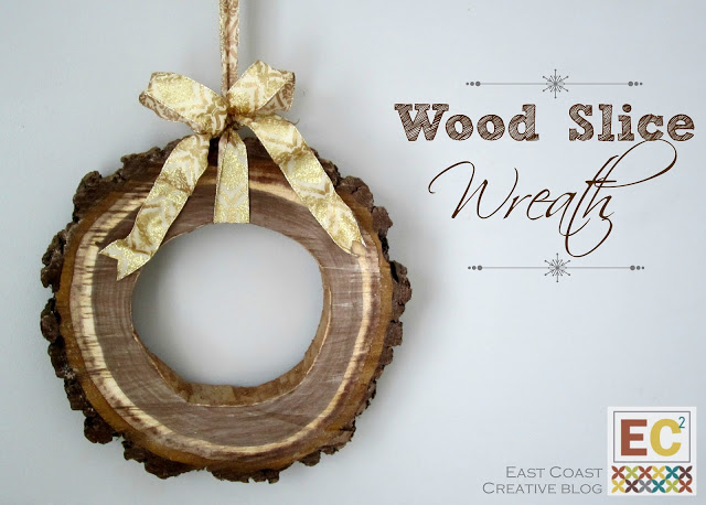 Wood Slice Wreath | East Coast Creative #christmas #wreath