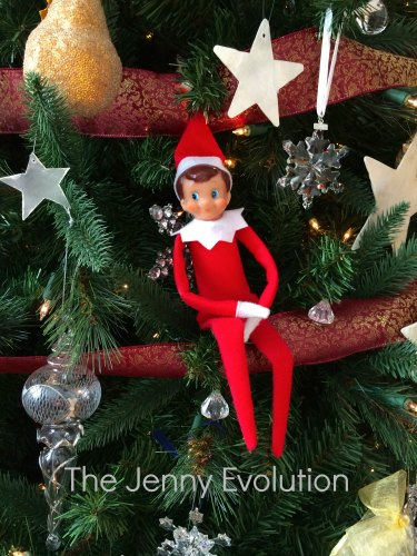 Elf on the Shelf Visits the Christmas Tree #elfontheshelf #elfideas