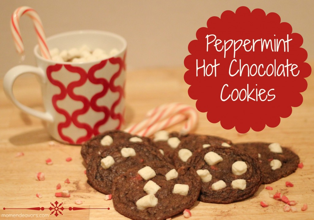 Peppermint Hot Chocolate Cookies | Mom Endeavors. Click for more holiday cookie ideas! #christmascookie #cookieexchange