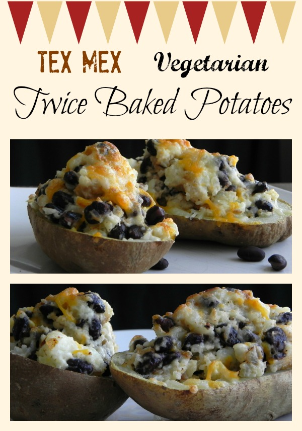 Oh yum! Tex Mex Twice Baked Vegetarian Potato recipe