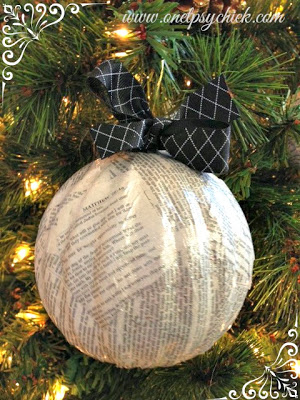 What a terrific idea on recycling old ornaments into modern ones!