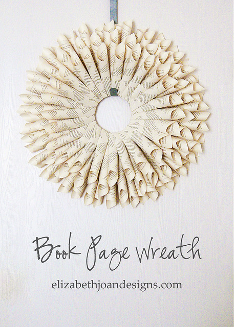 Simply in love with this Book Page Wreath