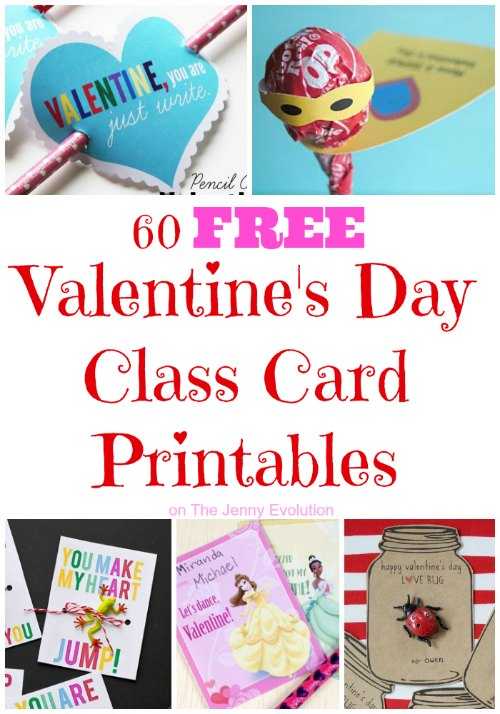 photo relating to Printable Valentine Day Cards for Kids identified as 60 Totally free Valentines Working day Cl Card Printables for Little ones