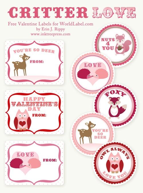Critter Love Valentines ...