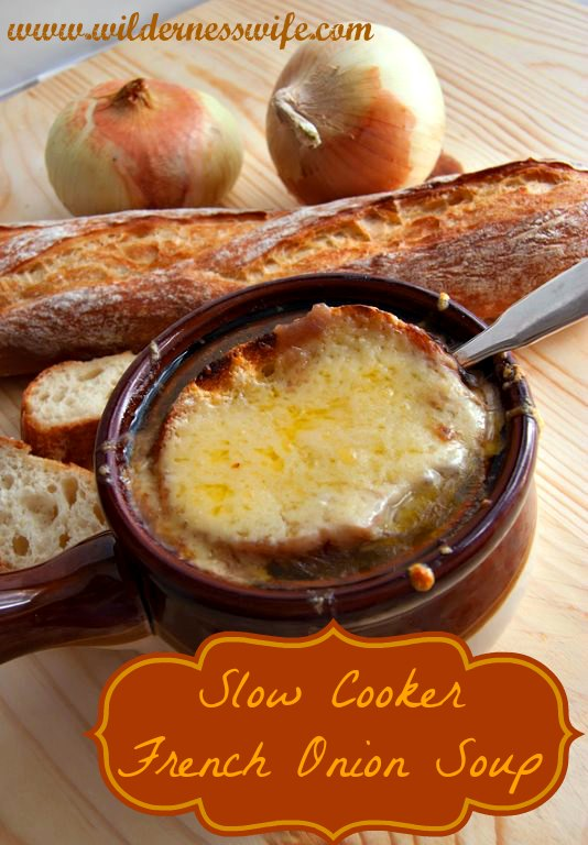 Slow Cooker French Onion Soup - sounds unbelievably delicious! Recipe