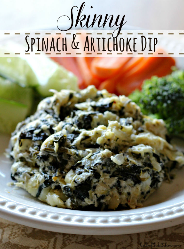 Skinny Spinach and Artichoke Dip. Love this! Recipe