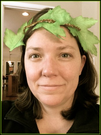 Jenny Wearing the Olympic Leaf Crown