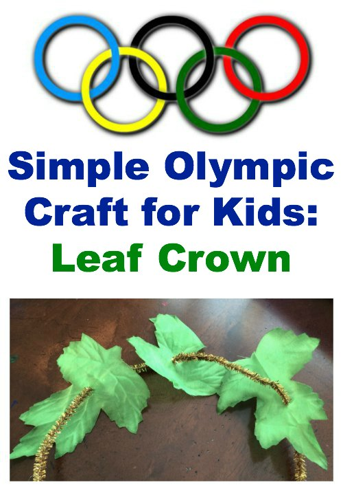 Simply olympic craft leaf crown