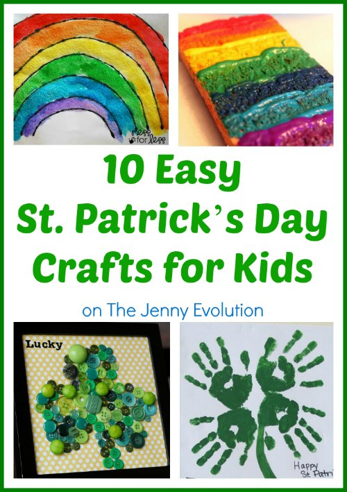 10 Easy St. Patrick Day Crafts for Kids compiled by The Jenny Evolution