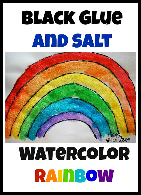 Salt Watercolor Rainbow. Click for 10 More Easy St. Patrick's Day Craft