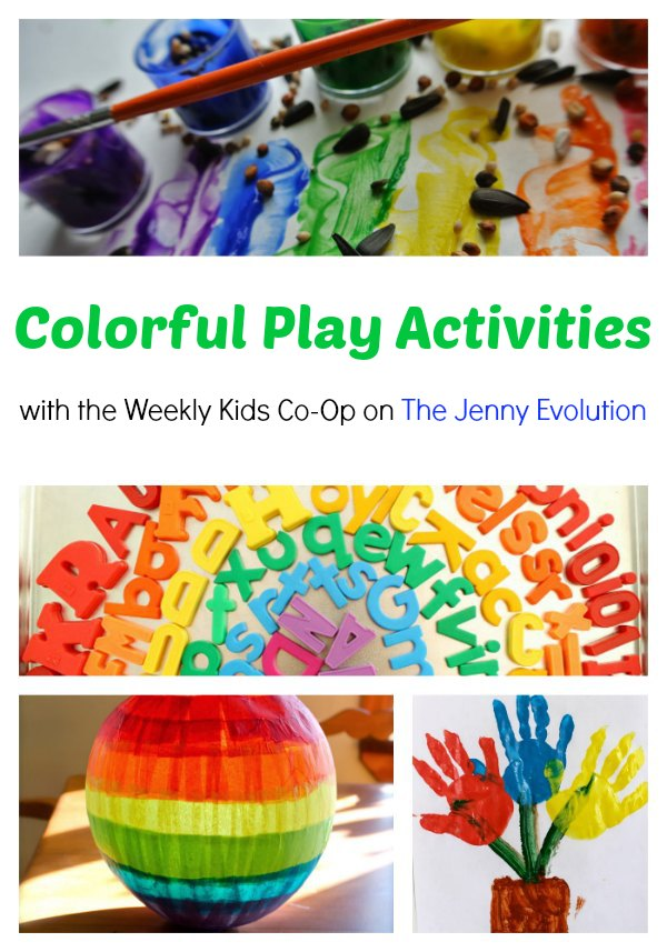 Rainbow and Color Crafts, Projects and Activities on The Jenny Evolution
