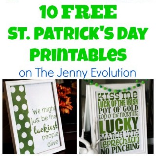 10 FREE St Patrick Day Printables and Subway Art