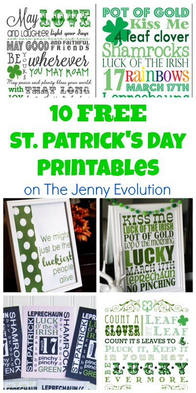 10 Free St. Patrick's Day Printables #stpatricksday