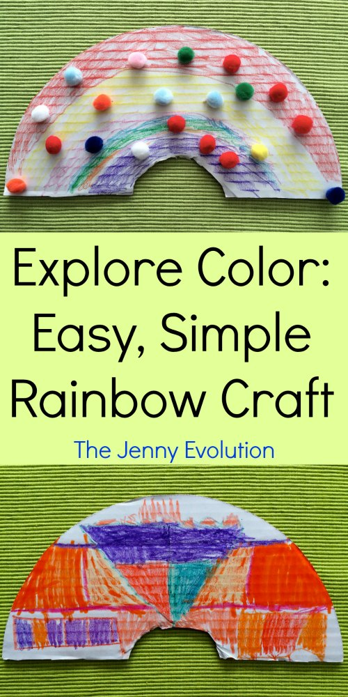 Explore Color: Easy Rainbow Craft with Cardboard Pizza Rounds | The Jenny Evolution