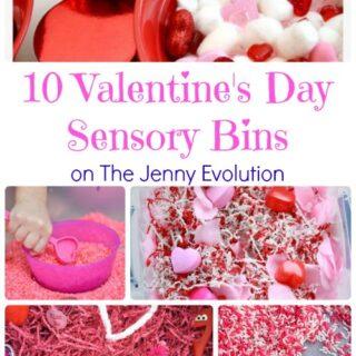 10 Valentine's Day Sensory Bins