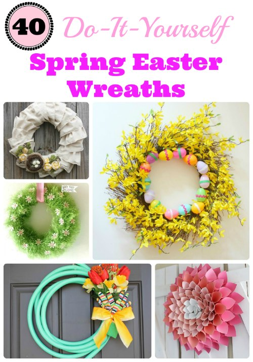 40 DIY Spring Easter Wreaths #diy #easter