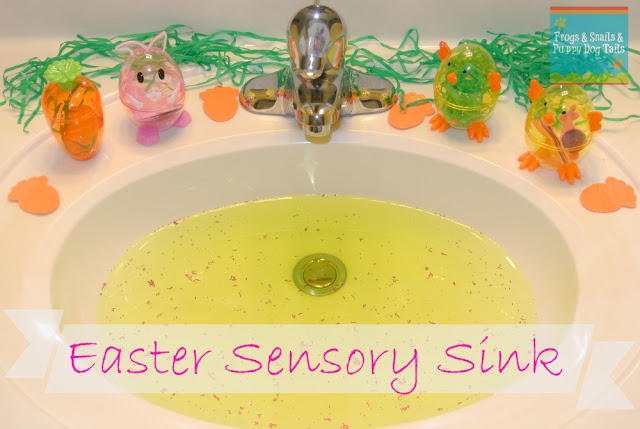 Easter Sensory Sink #easter