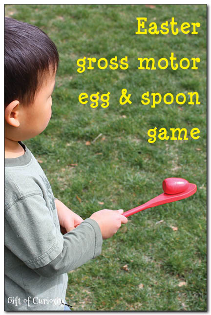 Gross Motor Egg and Spoon Game #easter