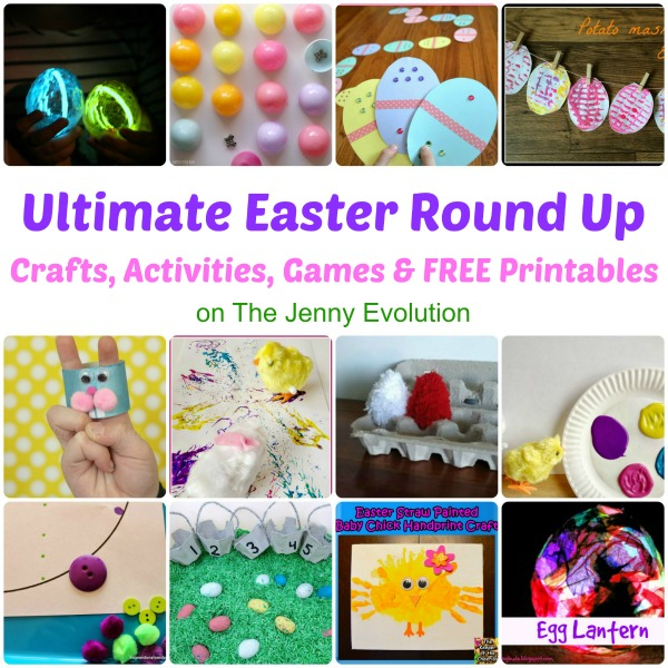 The Ultimate Easter Round-Up! Crafts, Activities, Games & FREE Printables   #easter