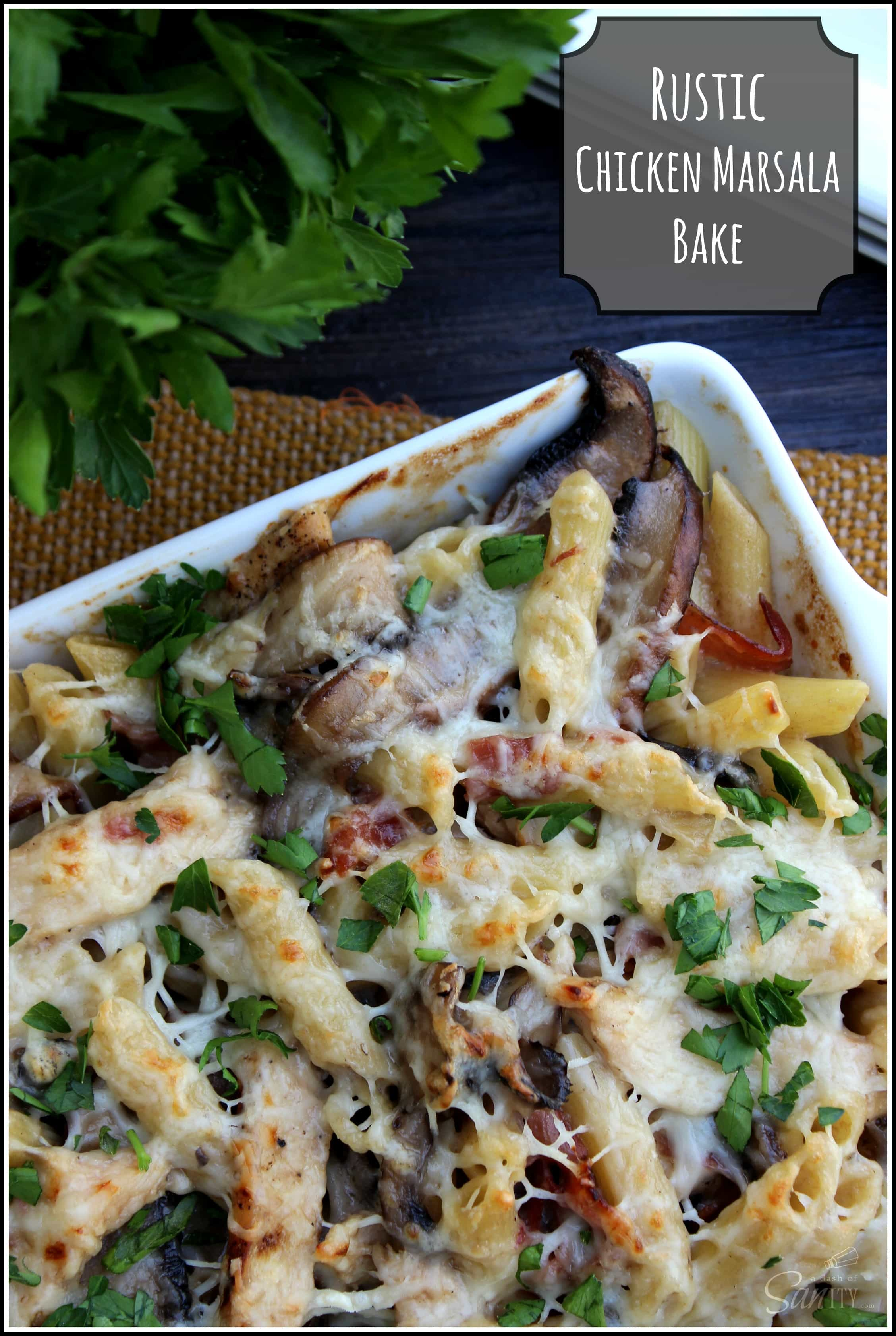 Rustic Chicken Marsala Bake Recipe