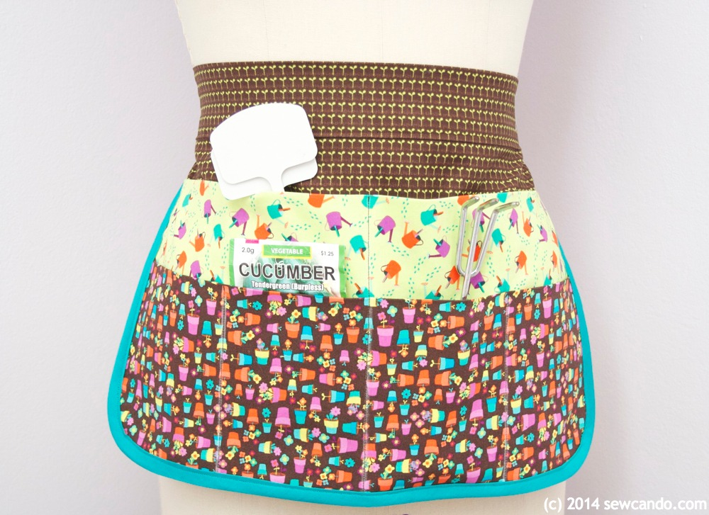 How To Make A Multi-Pocket Gardening Apron. Tutorial from Sew Can Do