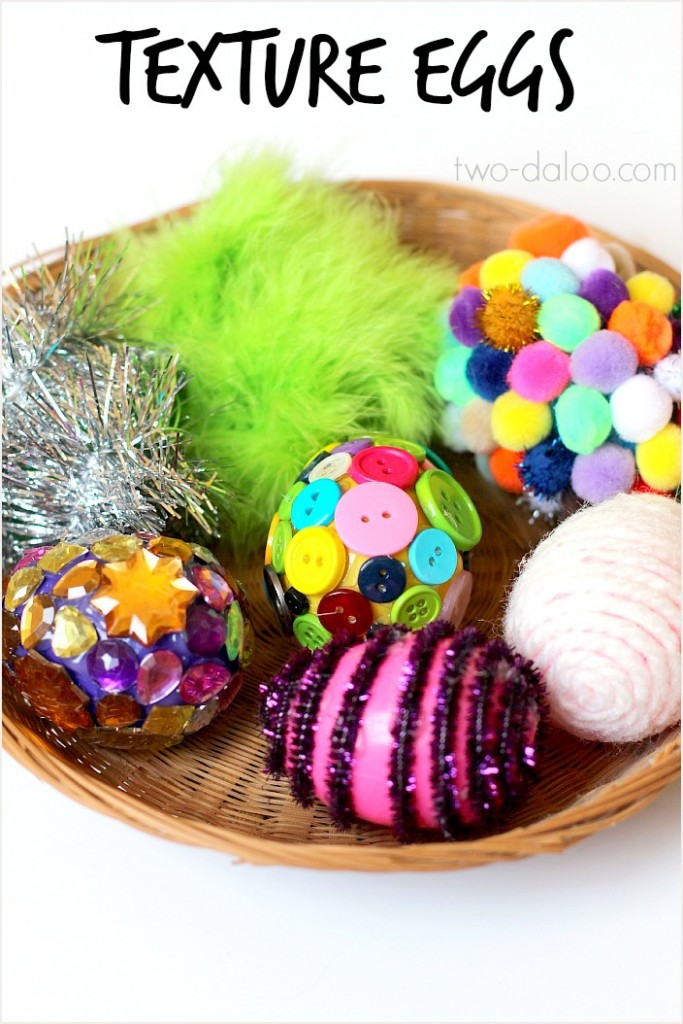 Texture Eggs: Sensory Play and Language Activity #easter