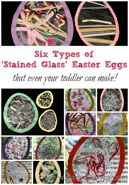 Six types of 'Stained Glass' Easter Eggs that even your toddler can make!
