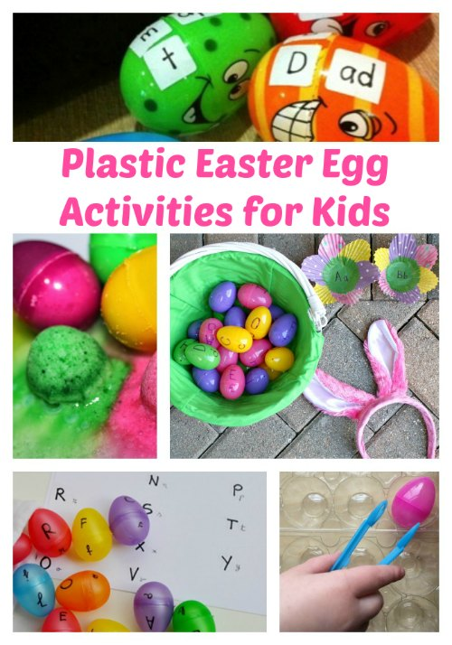 Leftover Easter Eggs? Here are plastic Easter egg activities for kids!