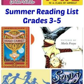 Summer Reading List, Grades 3-5