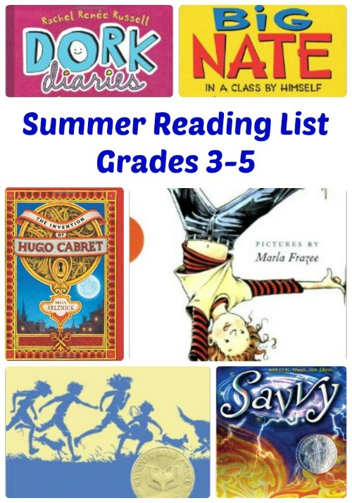 Awesome Summer Reading List for the Kids - Grades 3, 4 and 5