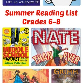 Summer Reading List - Middle School - Grades 6-8